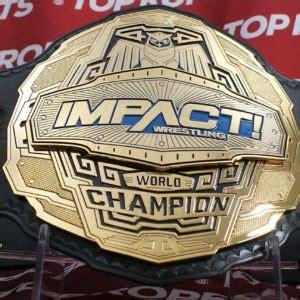 impact world champion belt top rope belts