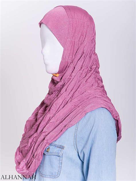 glitter crinkle  piece al amira hijab  alhannah islamic clothing