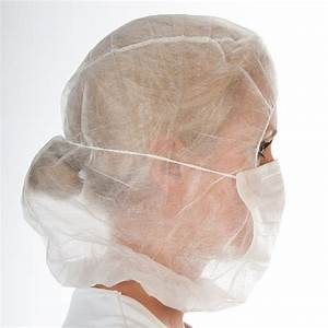 Astronaut cap with face mask of polypropylene nonwoven ...