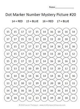 letters numbers bundle dot marker activities