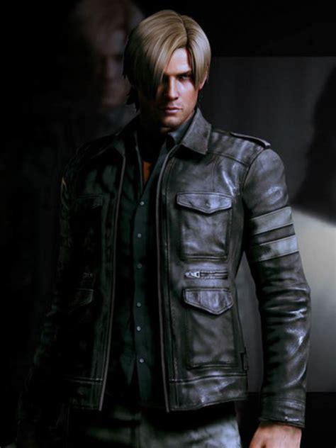 leon kennedy leather jacket resident evil  jacket