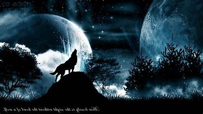 Wolf Howling Wolves Dark Wallpapers Quotes Galaxy