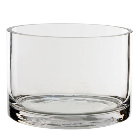 glass cylinder vases bulk glass cylinder vases h 4 quot open d 6 quot pack of