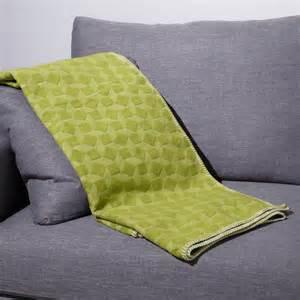 plaid en viscose de bambou et coton vert et losanges 150 x