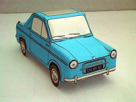 vespa  mini car paper model  images paper