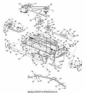 Mtd 14az808k131  2002  Parts Diagram For Deck Assembly 54