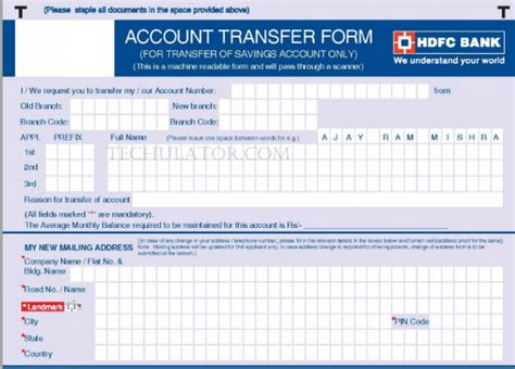 transfer bank accounts   branch