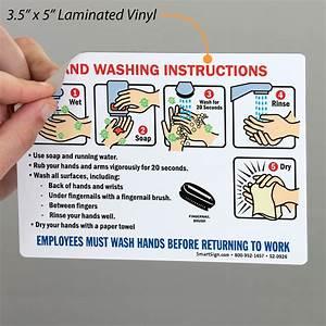 Hand Washing Instruction Wash Before Returning Sign