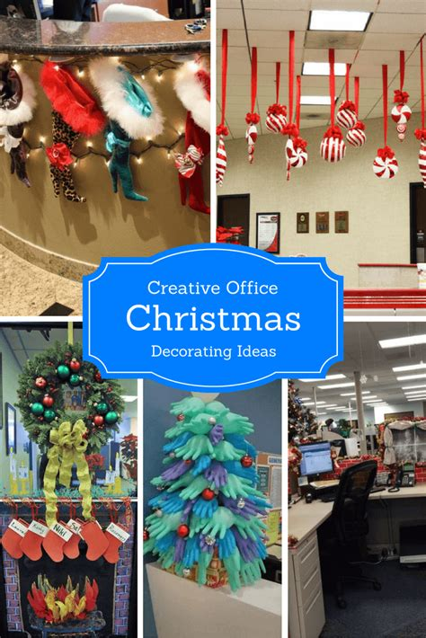 creative office christmas decorating ideas