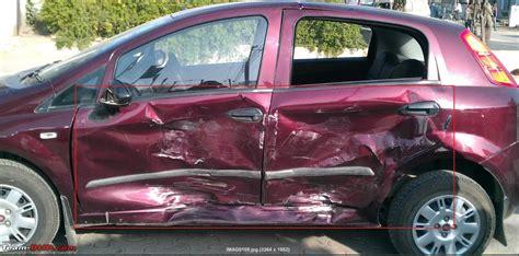 fiat punto accident b pillar damage team bhp