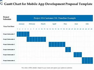 Gantt Chart For Mobile App Development Proposal Template