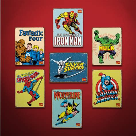 marvel superhero signs inspire a room with classic style