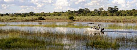 Photograph of Okavango River boat Okavango Delta Botswana