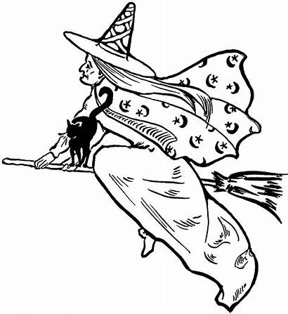 Witch Flying Clipart Clip Fairy Halloween Graphics