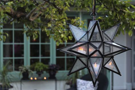 olivia star pendant in garden