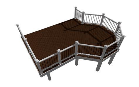deck plans overlook deck design plans trex