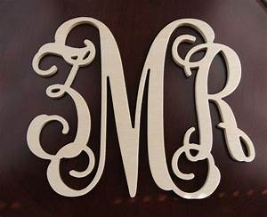20 inch wooden letter monogram wall decal monogram nursery With wooden monogram letters for wall