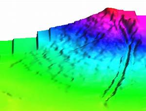 Dtm Of An Alluvial Fan  The Incision Of The Stream That