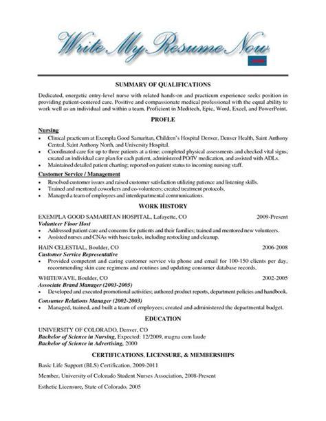 Volunteering Resume Format by Hospital Volunteer Resume Exle Http Www Resumecareer Info Hospital Volunteer Resume