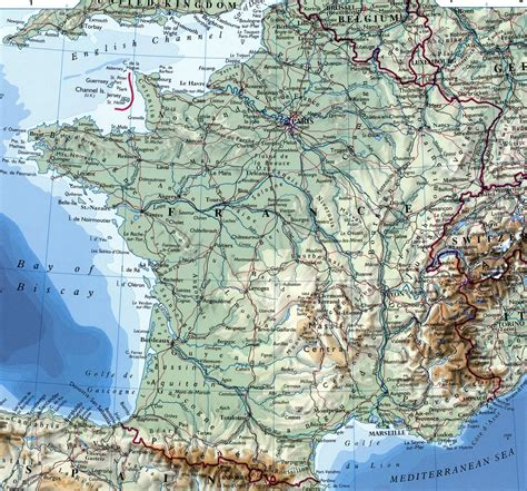 large detailed map  france  cities
