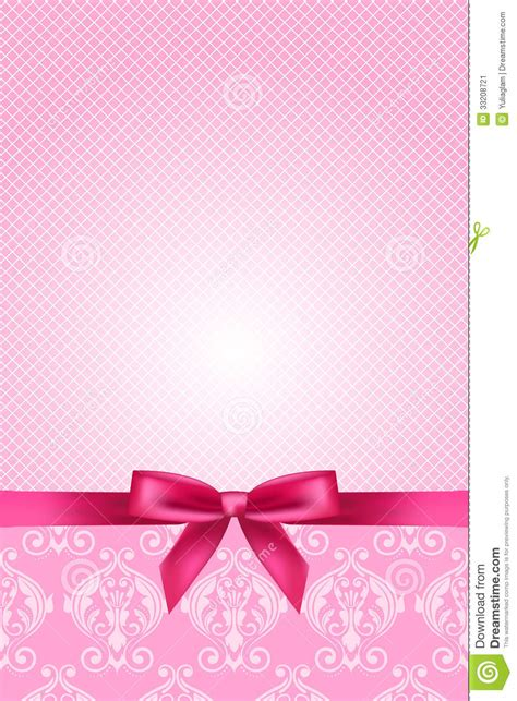 pink wallpaper  bow stock vector image  card