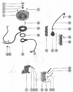 Mercury Marine 650  3 Cylinder  Flywheel  Switch Box  Ignition Coil  U0026 Stator Assembly Parts