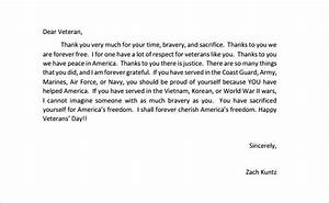 sample thank you letter to wwii veterans military fallen With veterans day thank you letter template
