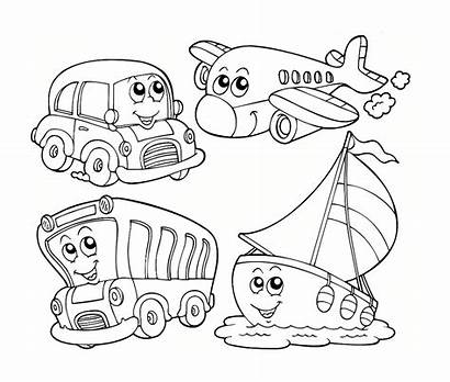 Coloring Transportation Preschool Worksheets Pages