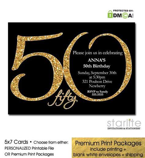 Exclusive Designer 50th Birthday Invitation Modern
