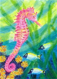 Pink Seahorse | Heni's Happy Paintings