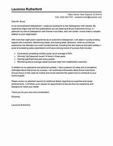 Car salesman cover letter letter of recommendation for Cover letter for car dealership