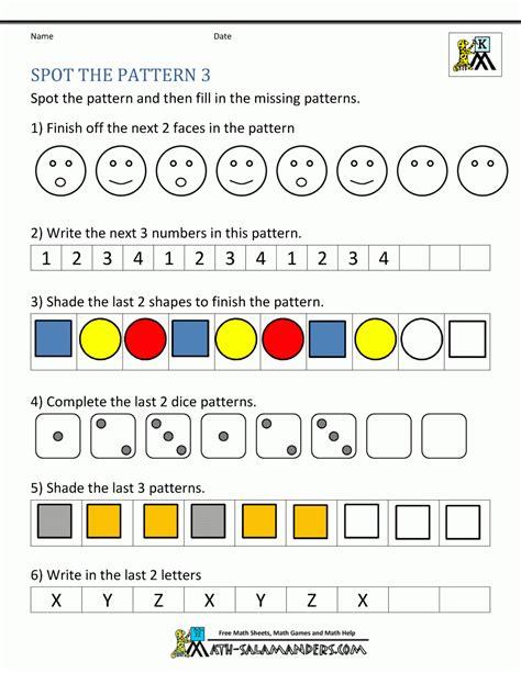 number patterns  sequences worksheets