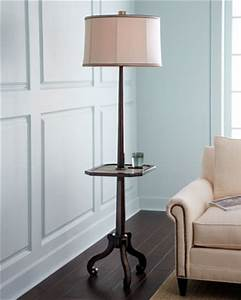 Floor lamp z floor lamp with adjustable tray bamboo for Chelsea floor lamp with tray