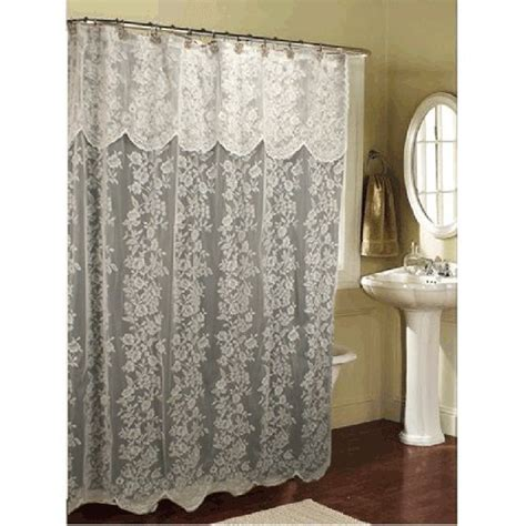 curtain amazing lace shower curtain white lace shower