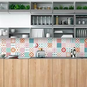 Stickers Carreaux De Ciment Cuisine : 30 stickers carreaux de ciment scandinave sementti laatat ~ Melissatoandfro.com Idées de Décoration