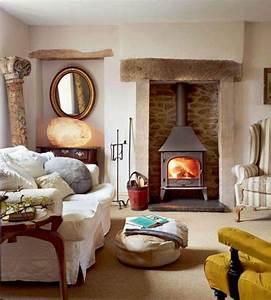 1001 conseils et idees de deco campagne chic fantastique With tapis jaune avec canapé style campagne anglaise