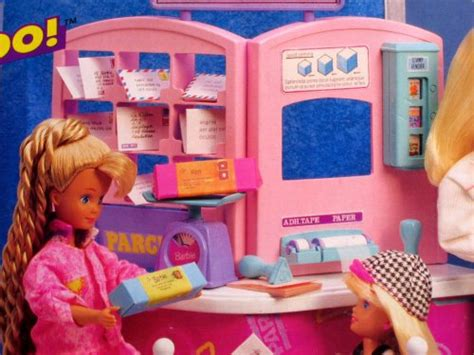 barbie     post office playset  arcotoys