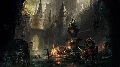 Gothic Dark Castle Souls Landscape Desktop Midevil