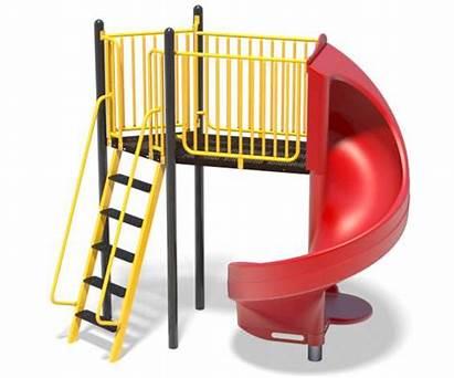 Spiral Slide Ladder Slides Playground Play Independent