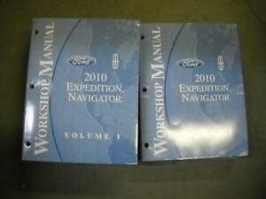 service repair manual free download 2010 lincoln navigator l transmission control 2010 ford expedition lincoln navigator repair service shop manual set oem ebay