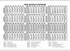 2019 Fiscal Calendar Template Starts at April Free
