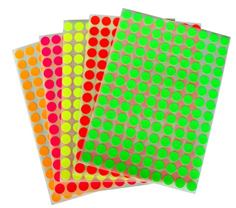 colored stickers colored neon circular stickers small dots 10mm 3 8 inch