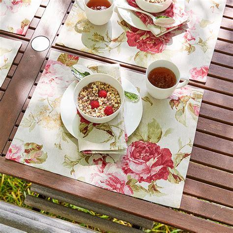 Tischdecke Auf Englisch by Tischsets Romantische Englische Rosenmotiv Tischw 228 Sche