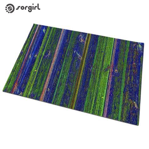 Green Doormat by Blue Green Vertical Stripes Doormat Front Door Mat Carpet