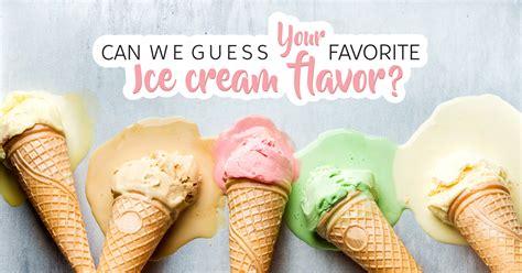 guess  favorite ice cream flavor quiz