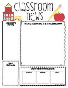 free preschool newsletter templates 1000 ideas about class newsletter template on class newsletter classroom