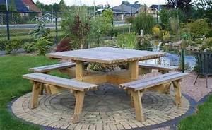 Table Bois Pique Nique : promo table pique nique en bois 8 places destockage ~ Melissatoandfro.com Idées de Décoration