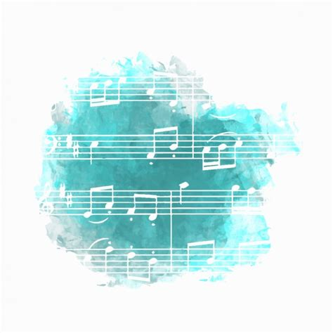 Music background in blue Vector