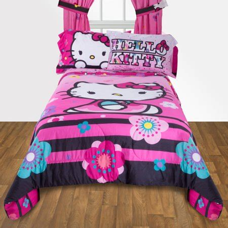 Hello Bedroom Set At Walmart by Hello Floral Ombre Reversible Bedding