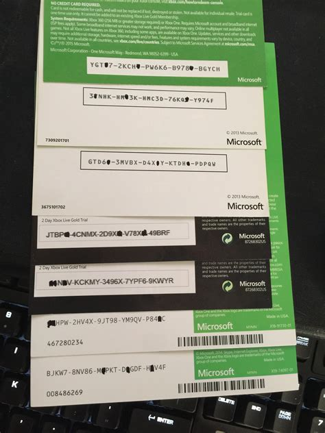 mm xbox live code giveaway 20 codes for various xbox live trials add ons and bc x1 enjoy